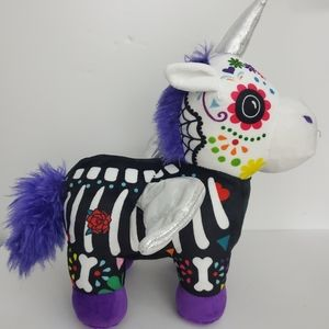 Day Of The Dead Unicorn Plush